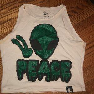 i heart raves crop top 👽✨